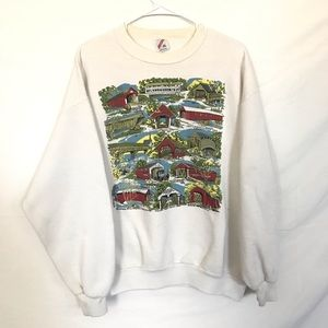 Vintage Bridge graphic crewneck